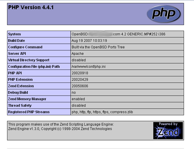 php working